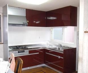 K様邸 L型キッチン交換工事