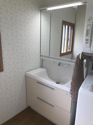 【古河市】洗面脱衣室のリフォーム