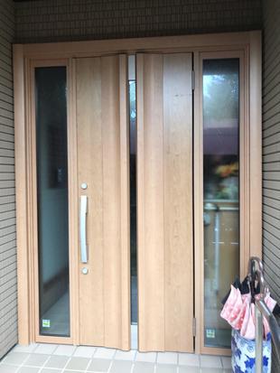 【古河市】玄関ドア交換工事