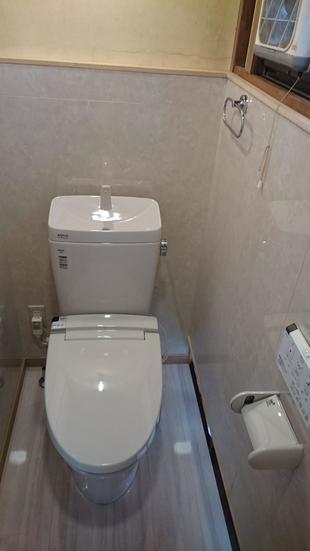 トイレも壁も新しく!