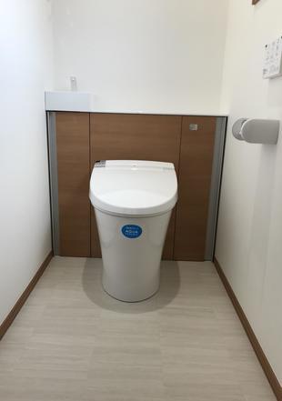 栃木県 那須塩原市 トイレリフォーム工事 収納付きトイレ「リフォレ」