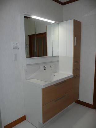 栃木県 大田原市 浴室・洗面室改修工事 S様邸  前施工例の続きです・・