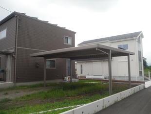 カーポート設置工事(屋根折半タイプ、耐積雪強度50cm)