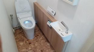 サティス+手洗器のトイレ空間に (高崎市)