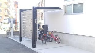 所沢市 久米 電動自転車を雨ざらしから避けました