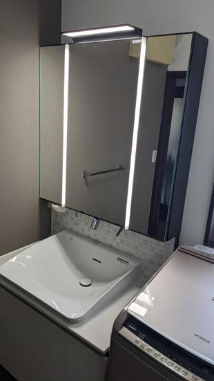 新築当時の洗面台をグレードアップリフォーム 所沢市