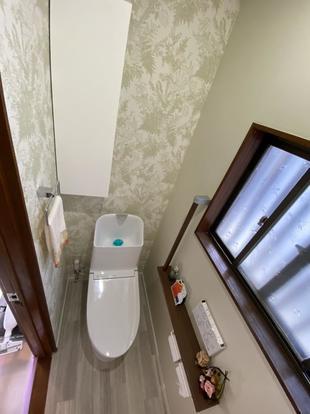 築40年のトイレと洗面脱衣室をリフォームしました。