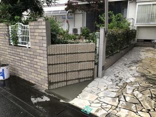 ブロック塀 改修工事