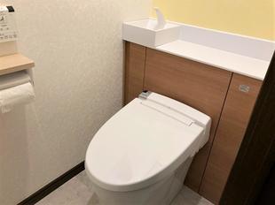 シンプルで機能的なトイレ・洗面リフォーム