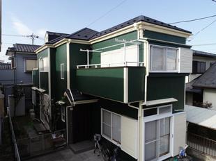 春日部市 屋根カバー工法・外壁塗装・玄関リフォーム