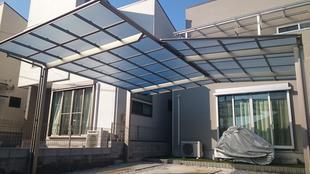 川越市 カーポート設置 リフォーム工事 異形対応型