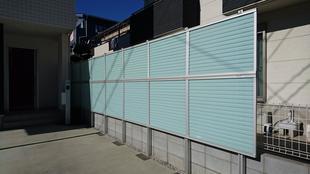 川越市 玄関フェンス工事