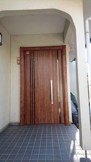 川越市 玄関ドア・勝手口ドア 交換リフォーム工事