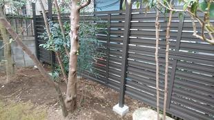 川越市 庭 フェンス工事