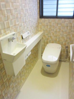 サティスGタイプリトイレ手洗いカウンター付きにお取替え  目黒区A様邸