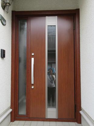 カバー工法 LIXILリシェントで玄関ドアのお取替え 横浜市港北区A様邸