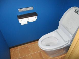 国分寺市 I様邸 LIXILタンクレストイレ「サティス」新色ブルーグレー