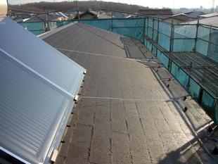 セキスイかわらUの屋根からコロニアル屋根へ葺き替え