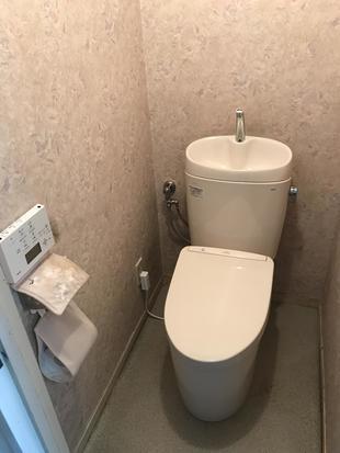 マンショントイレリフォーム【タンクがスリムになって節水に!】