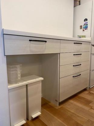 収納力UP! カップボード新規設置&クローゼット棚設置工事