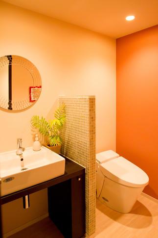 くつろぎ感を大切に設計したトイレ。