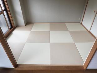 カラー畳でモダンな和室へ
