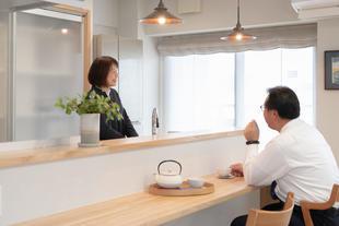 ご夫婦の会話が弾むオープンキッチン