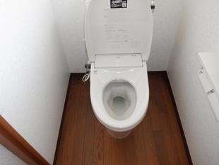 和便器から洋便器へ お孫さんも喜ぶトイレ