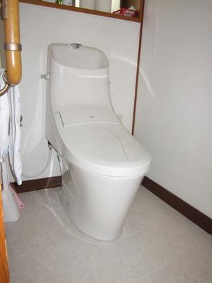 長野市N様邸 フチレスにして手入れも楽々 節水と合わせて快適‼