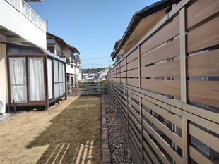 フェンスと門扉を新しくしました!