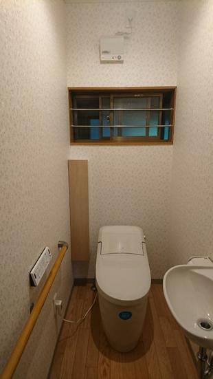 トイレ内改修工事をしました!