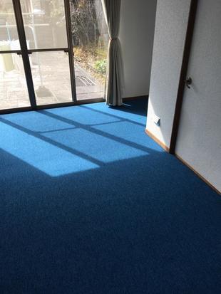 絨毯の色を変えるだけで、雰囲気一新!