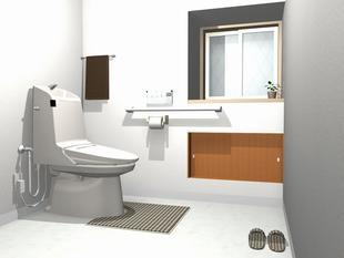 納戸をトイレと洗面室の快適な空間に・・・・