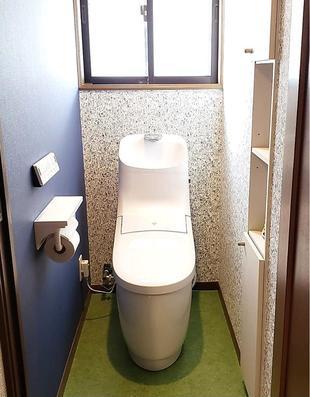 空間楽しめるトイレ