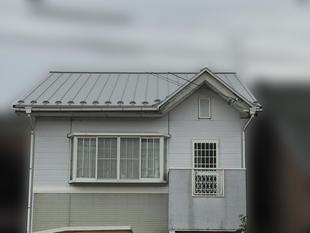 平板スレート瓦  から ガルバリウム鋼板の屋根に
