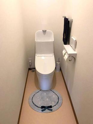 スッキリとした掃除のしやすいトイレが出来上がりました。