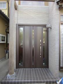 一日で工事が完了 玄関ドア