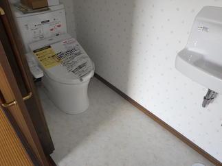 新しくトイレと手洗器を設置しました!