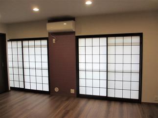 二間続きだった和室を洋室の一部屋にして広く快適な部屋に!