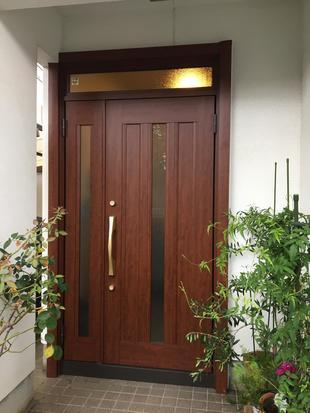 38年間家を守った玄関が生まれ変わりました。