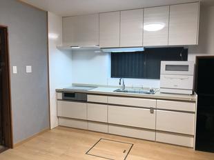 高い収納力で広く明るいキッチンルームへ 北九州市八幡東区Y様邸 キッチンリフォーム