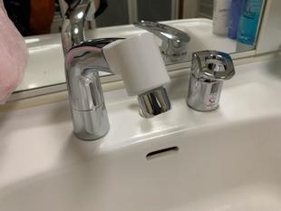 大分市 M様邸 洗面水栓金具 交換