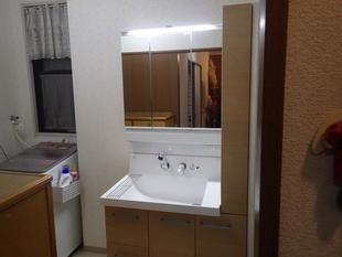 薩摩川内市 洗面化粧室のリフォーム