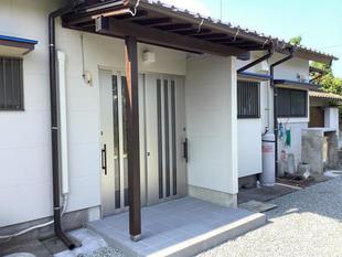 薩摩川内市 玄関ドア廻りのリフォームで素敵な外観に