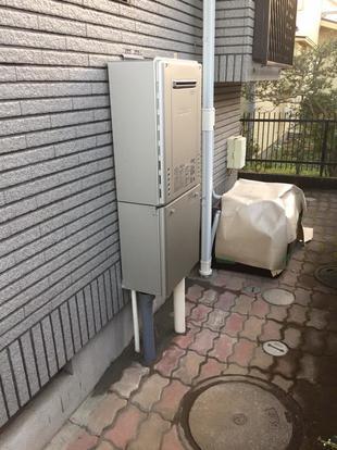 東大和市 ガス給湯器の交換工事!