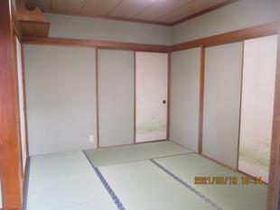 ONEDAYリフォーム!!和室の壁紙と畳の張替工事でした!!