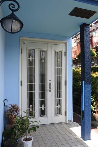 玄関まわり塗装