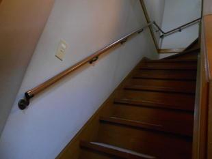 2階に行くのが大変! ~手摺り取付工事~