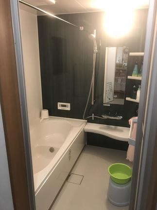 増築をして、広々浴室!