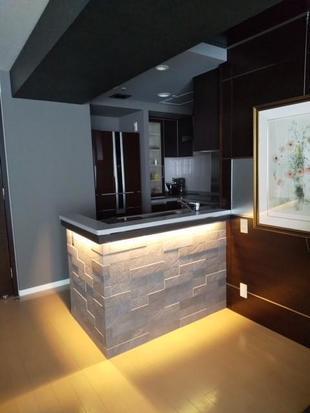 間接照明が素敵なキッチン